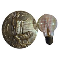 Death Plaque WW ONE with  U-BOAT Light Bulb