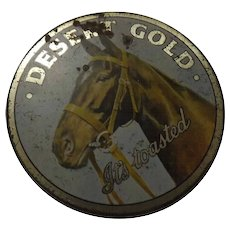 Tobacco Tin ' Dessert Gold' - New Zealand Circa 1920's