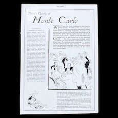 Art Deco 'MONTE CARLO' Advertisement  - The Sphere 1936