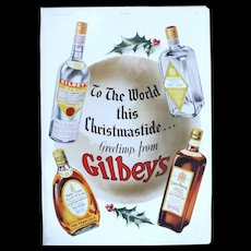 Art Deco 'GILBEY'S' Advertisement  - The Sphere 1936