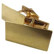 Superb Gentlemen 's 18 Carat Gold Cuff Links