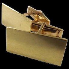 Superb Gentlemen 's 18 Carat Gold Cuff Links
