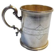 Superb Victorian Sterling Silver Tankard -Hall Marked 1865 London