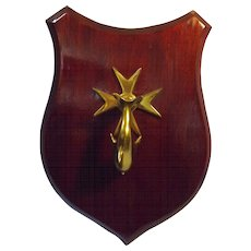 Fabulous Shield Mounted DOLPHIN Door Knocker