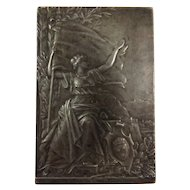 French Bronze Plaquette' 18th Concours Nationale De Tir XI e Fete'