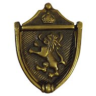 Old 'Lion & Kings Crown' Door Knocker