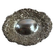 William Comyns Silver Bon Bon Dish in Repouse - 1896