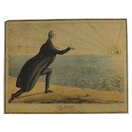 English Political Cartoon 1830 'The Cheber Worshipping The Rising Sun''