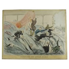 English Political Cartoon 1832 ''Cleansing The Augean Stable'''