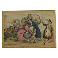 English Political Cartoon 1830 'A Moving Scene on the Road to Slane'''