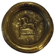 Continental Balloon Brass Advertising Dish