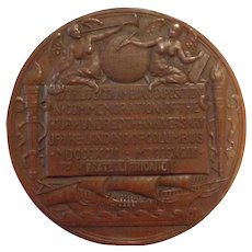 Christopher Columbus 1892 -1893 Exposition Bronze Medallion