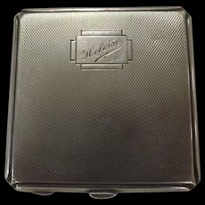 Ladies Sterling Silver Art Deco Powder Compact