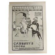 Original Cadbury's Cocoa Advertisement -The Sphere Nov.1900