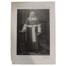 Original Page 'The Lord Chief Justice of England - The Sphere Aug. 1900hp[