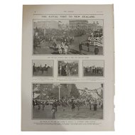 Original  Page 'The Royal Visit To New Zealand' - The Sphere  JUL. 1901