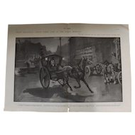Original  Double Page 'What Piccadilly Circus Looks Like In The Early Morning' - The Sphere Jul. 1901