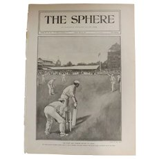 Original  Page 'The Eton And Harrow Match At Lord's - The Sphere Jul.1901
