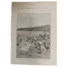 Original Page - Boer War 'How Our Soldiers Have To Ford Rivers' '  - The Sphere Jul. 1901
