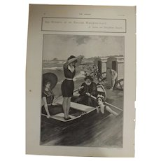 Original  Page 'Sea Bathing At An English Watering -Place' - The Sphere  JUL. 1901