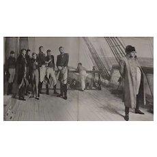 Original  Double Page 'Napoleon: The Last Phase' - The Sphere Dec. 1900
