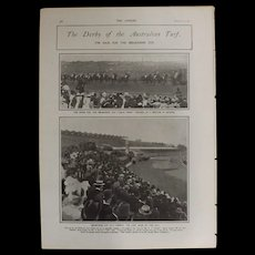 Original  Page 'The Derby Of The Australian Turf'' - The Sphere Dec.1900