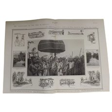 Original  Double Page 'The Conclusion Of The War In Ashanti' - The Sphere Dec. 1900