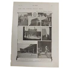 Original  Page 'How The  Powers Police Peking' - The Sphere Dec.1900