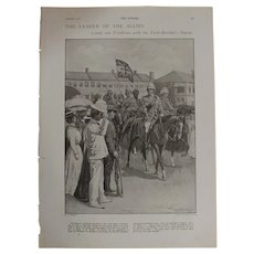 Original  Page 'Count Von Waldersee The Leader Of The Allies' - The Sphere Dec.1900