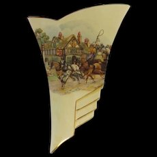 Royal Winton Wall Vase 'Coaching Scene'