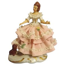 Gorgeous Small Dresden Figurine - Mint Condition
