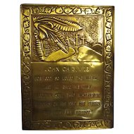 Religious Brass Plaque - JOHN Chapter 3. Verse 16.