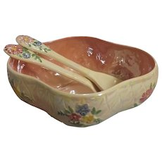 Maling Lustre War Salad Bowl With Matching Servers
