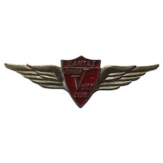 Qantas 'V Jet' Club Wings Badge