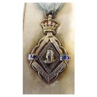 Masonic Jewel Queen Victoria's 60 Years Reign 1837-1897