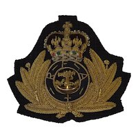 British Royal Navy Royal Fleet Auxiliary Cap Insignia