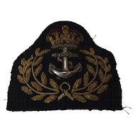 British Royal Navy Royal Fleet Auxiliary Warrant Officers Cap Insignia