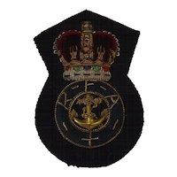 British Royal Navy Royal Fleet Auxiliary Cap Insignia - Fleet Officer