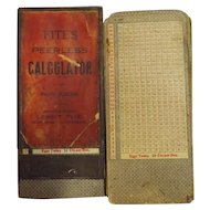 FITE'S Peerless Calculator For Eggs - Circa 1910-1920
