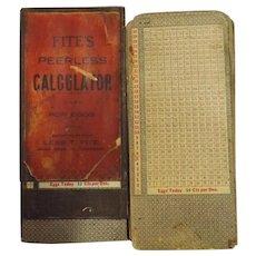 FITE'S Peerless Calculator For Eggs - Circa 1910-1920