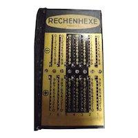 Rechenhexe Slide Adder Calculator -Germany Circa 1960