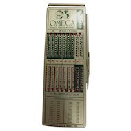 OMEGA Pocket Adding Machine  -WescosA  USA 1964