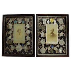 A Pair of French Roman Catholic Religious Tableaux - Circa 1880-1900