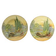 Royal Doulton Pair of 'Woodley Dale' Jam Dishes