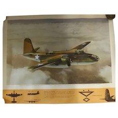 WW11 USA Original Propaganda Photographic Print - Douglas A-20 HAVOC