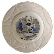 Victorian Child's Decorated Plate -The Beggar Boy
