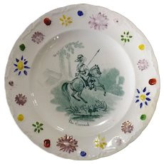 Victorian Child's Decorated Plate -The Cossack