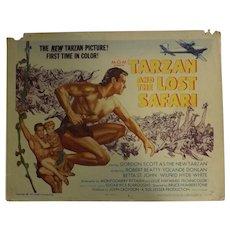TARZAN and The Lost Safari - 3 Lobby Cards & One Photo Still