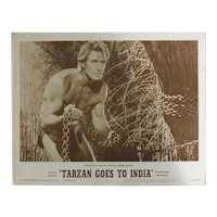 TARZAN Goes To India - 2 x Lobby Cards &  6 x Photo Stills