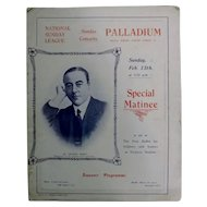The Palladium Oxford Circus - Special Matinee Theatre Program 1916